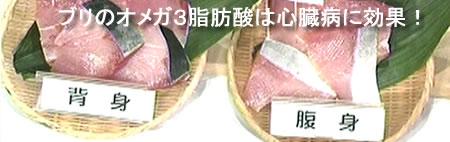 ブリにオメガ3脂肪酸