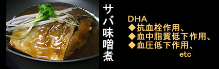 サバ味噌煮&DHA